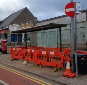 Seafield shops bus shelter