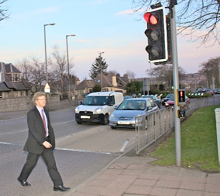 Photo of Ian Yuill at South Anderson Drive pedestrian crossing