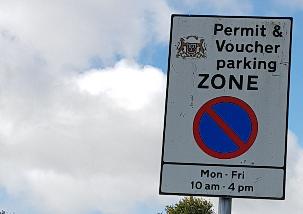 Picture of parking sign