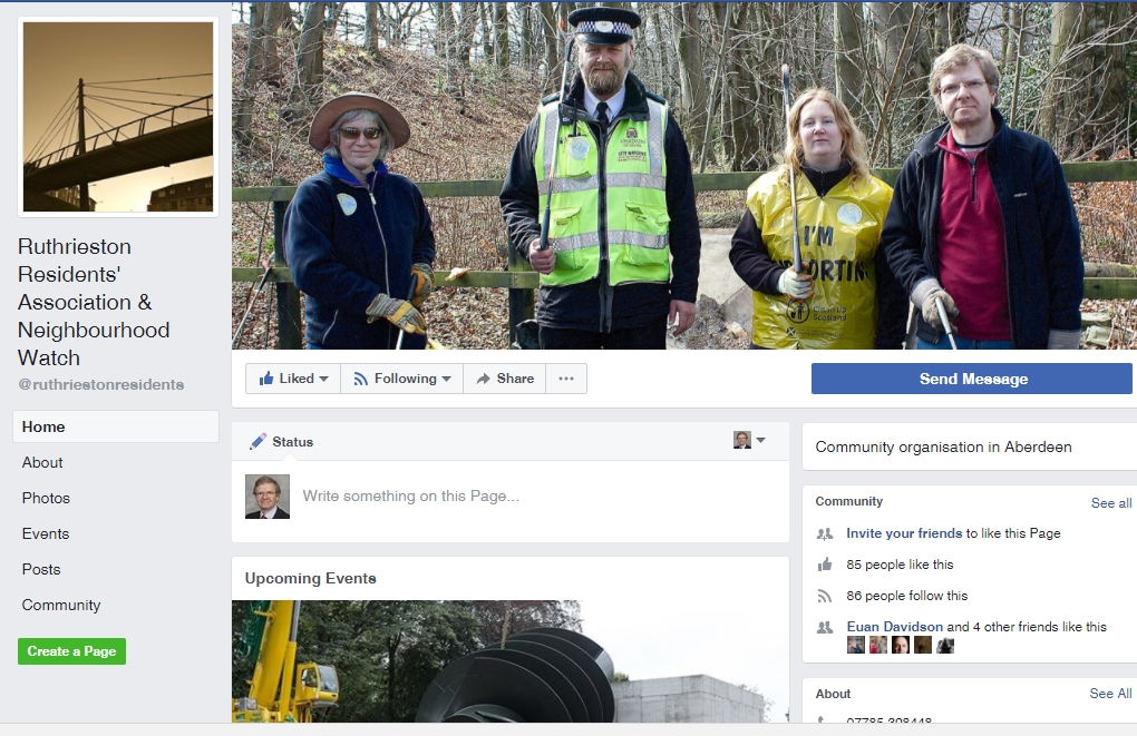 Image of Ruthrieston Residents' Association Facebook