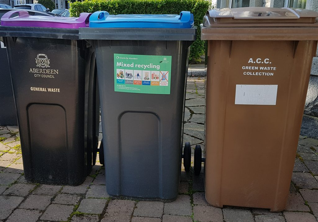 Photo of wheelie bins