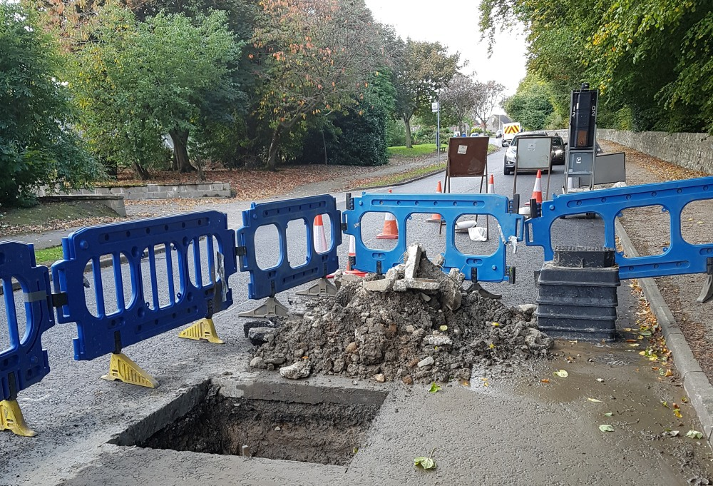 Photo of hole of Countesswells Road