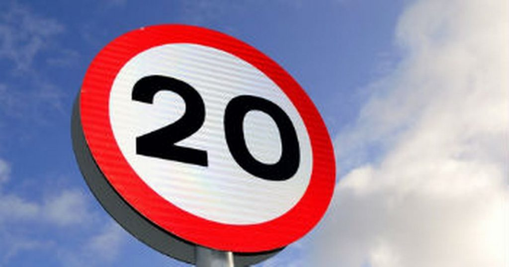 Photo of 20mph sign