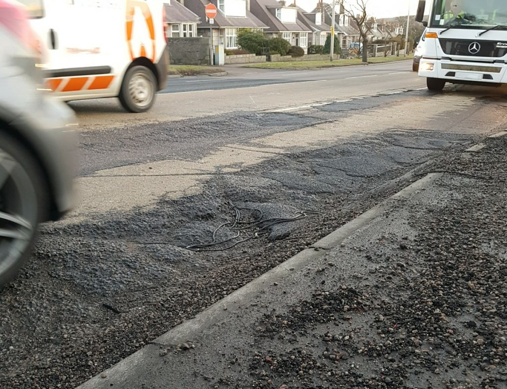Photo of South Anderson DRive road surface January 2018