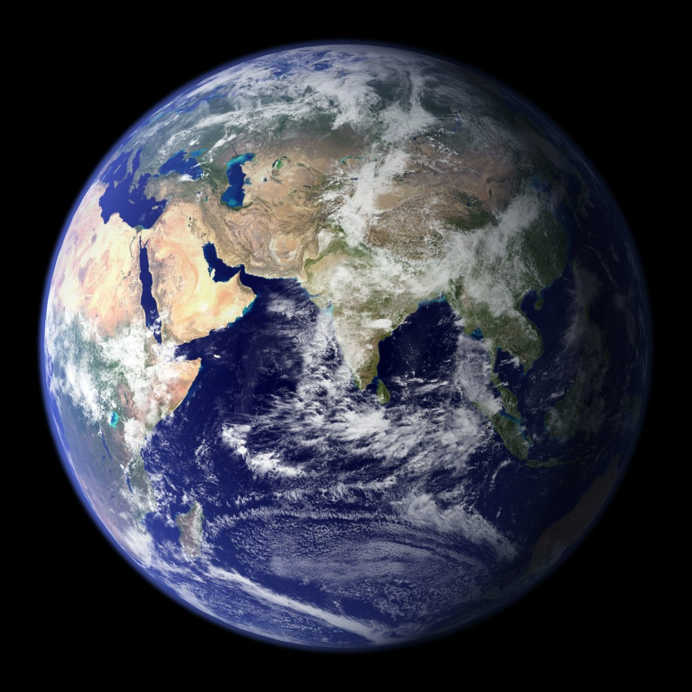 Photo of the Earth taken from space