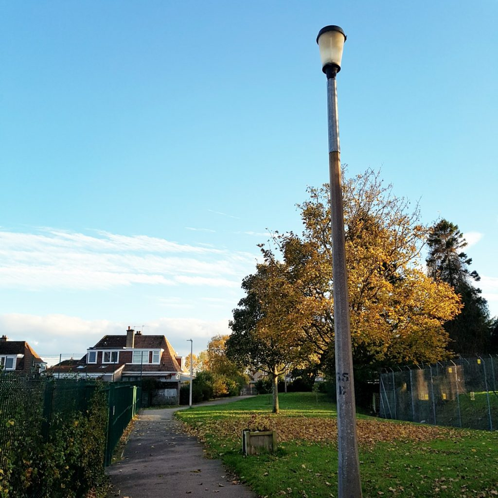 Photo of street light at footpath