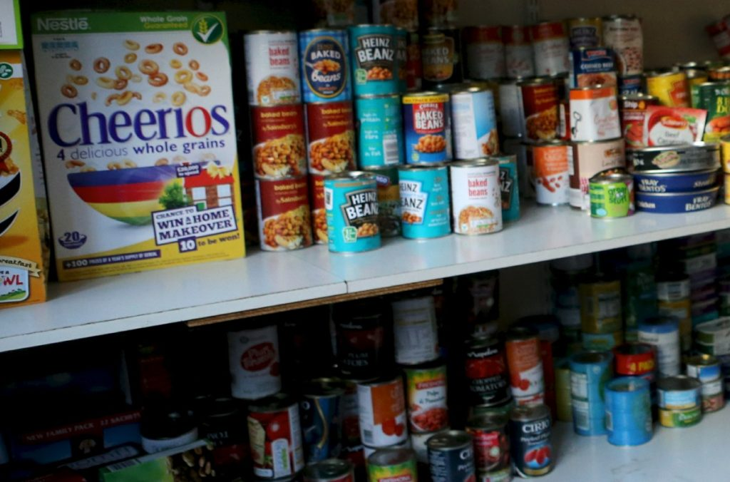 Photo of food on shelves