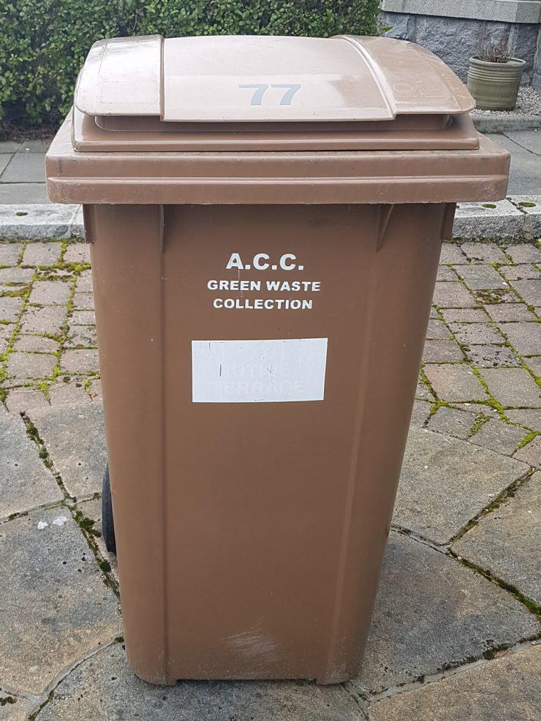 Photo of brown wheelie bin