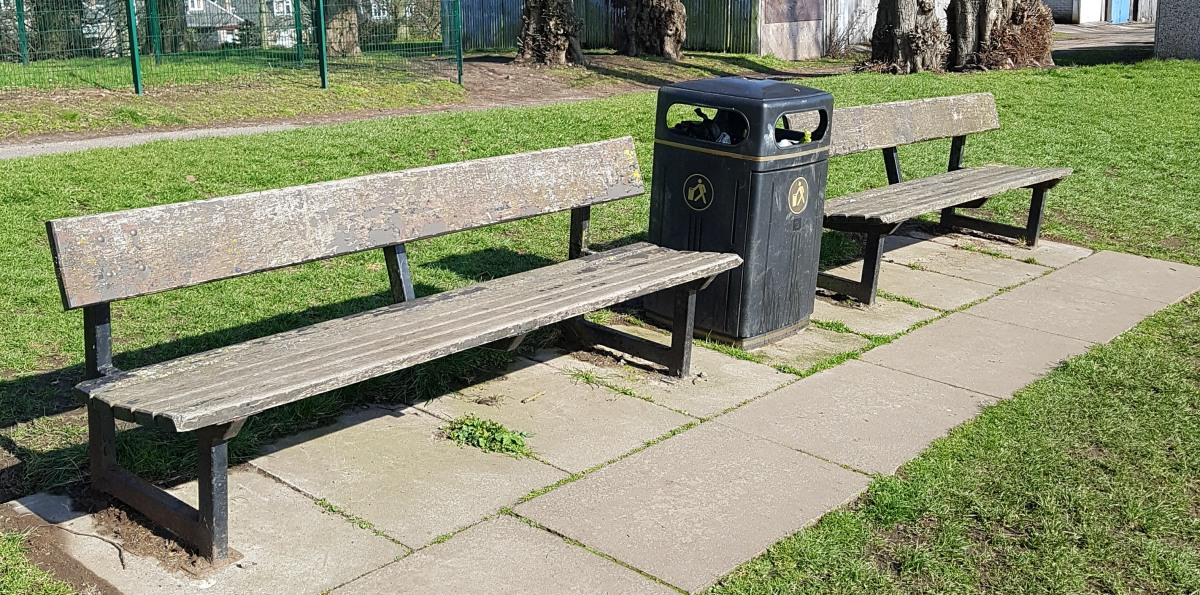 Photo of benches at The Woodies