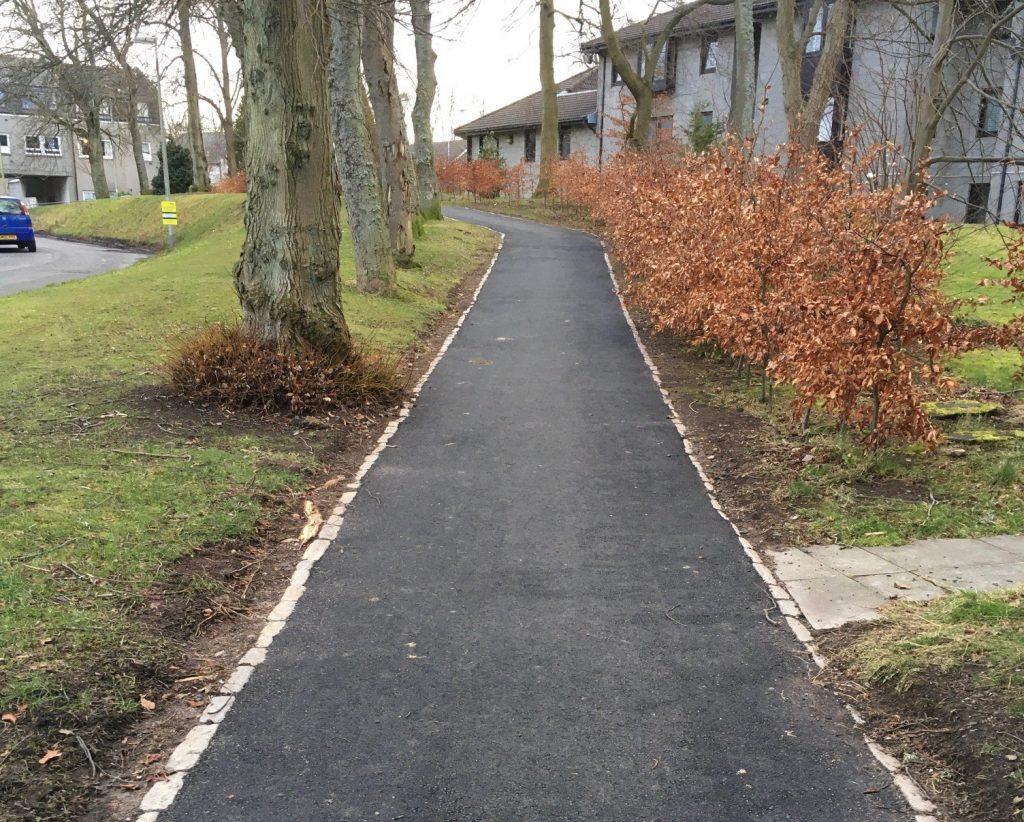 Photo of resurfaced footpath on Craigielea Avenue