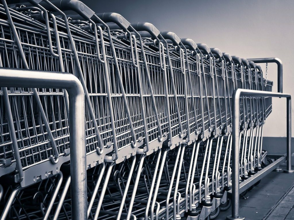 Photo of supermarket trolleys
