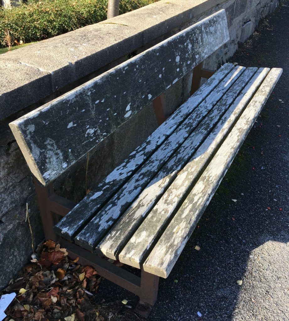 Photo of bench on South Anderson Drive